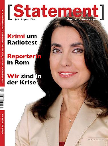 Titelbild der Juli/August-Ausgabe des österreichischen Medienmagazins [Statement]