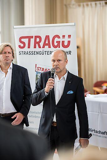 Re: Thomas Zembacher, Geschäftsführer Österreichischer Wirtschaftsverlag; Li: Marco Dittrich, Chefredakteur Straßengüterverkehr STRAGÜ