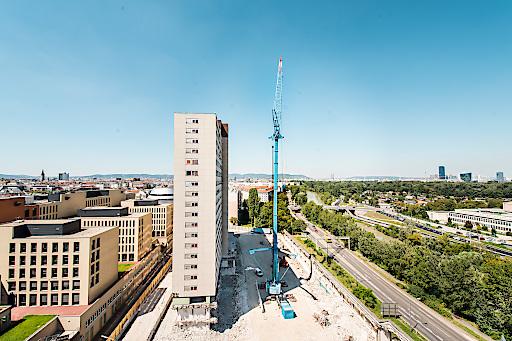 Am 8. August begann der tatsächliche Abriss des ehemaligen Zollamts mit dem Aufbau und der technischen Abnahme des Krans. Ab 2017 errichten die ARE DEVELOPMENT und die SORAVIA GROUP an diesem Standort das Hochhaus-Ensemble TrIIIple.