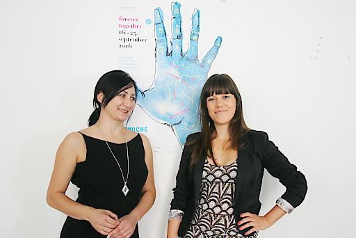 http://www.apa-fotoservice.at/galerie/8156 Im Bild v.l.n.r.: Nataša Mackuljak und Ivana Marjanović (Leitungsteam Wienwoche)