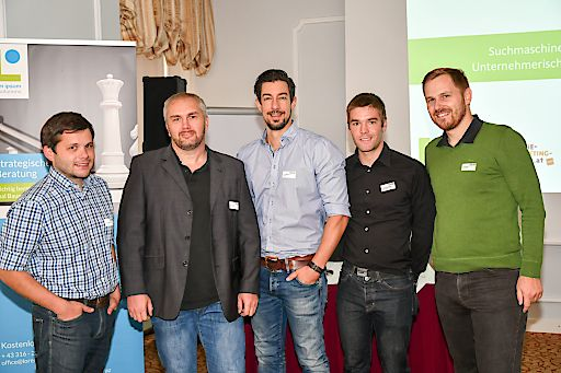 https://www.apa-fotoservice.at/galerie/8061/ Speaker (c) APA, v.l.: Werner Aschenbrenner (Lorem Ipsum web.solutions GmbH), Oliver Hauser (get on top gmbh), Mag. Martin Höllinger (mahoom.at), Markus Unterweger (pewag international group), Karl Kowald (Lorem Ipsum web.solutions GmbH)