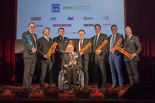Cäsaren 2016 - (vlnr) Teufelsdorfer; Herzog-Johnston; Weinberger; Artner; Brichard; Nussbaumer; Ulm, Moll