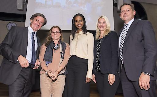V.l.n.r.: Peter Launsky, Margit Maximilian, Sara Nuru, Olivia Rauscher, Rupert Weber