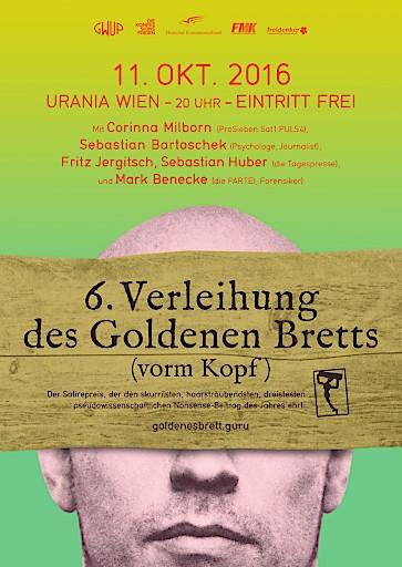 Das Goldene Brett vorm Kopf: Roland Düringer unter den Nominierten