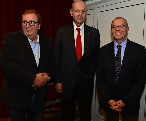 v.l.n.r.: Christoph Matznetter, Peter Zanoni, Harald Troch