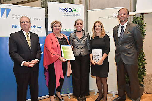 Pfizer Austria zum ersten Mal mit einem Austrian Sustainability Reporting Award (ASRA) prämiert