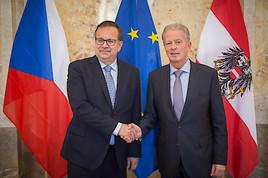 Mitterlehner: Gute Handelsbeziehungen zu Nachbarland Tschechien weiter intensivieren