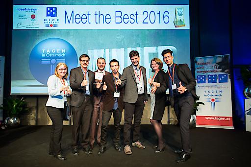 Das Krainerhütte-Team bei der Verleihung der Goldenen Flipcharts