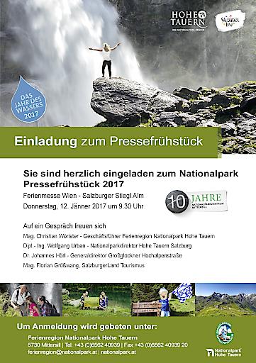 Einladung zum Pressefrühstück Ferienmesse Wien - Ferienregion Nationalpark Hohe Tauern GmbH