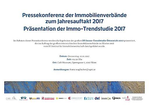 Terminaviso: Pressekonferenz der Immobilienverbände zum Jahresauftakt 2017