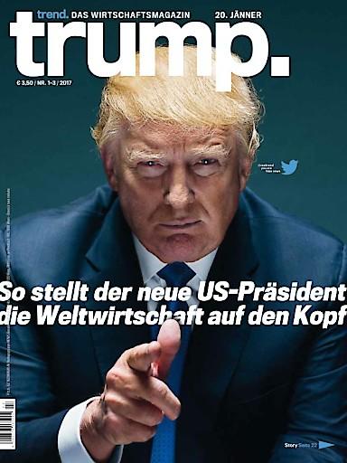 """""""trend"""": Erste Ausgabe des Wirtschaftsmagazins """"trend"""" im neuen Jahr mit außergewöhnlichem Titelblatt"""