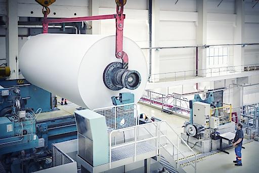 Papierrolle der Papierfabrik Laakirchen Papier