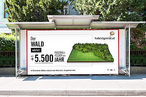 Die Plakatsujets der aktuellen Kampagne von proHolz Austria.
