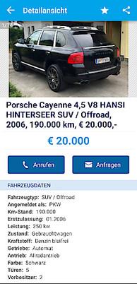 Hansi Hinterseers Porsche Auf Willhaben Erhältlich Willhabenat