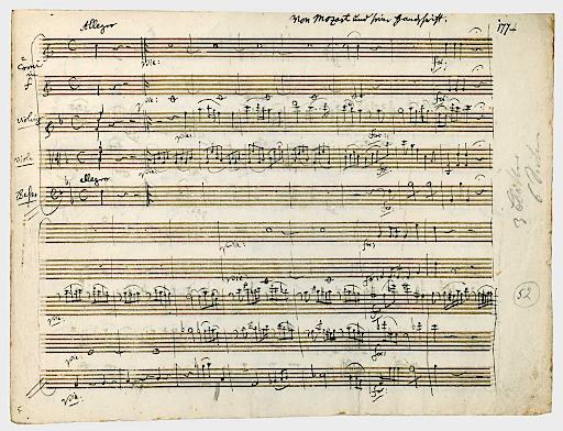 Briefe Von Mozart : Auktion in berlin wertvolle manuskripte und briefe von