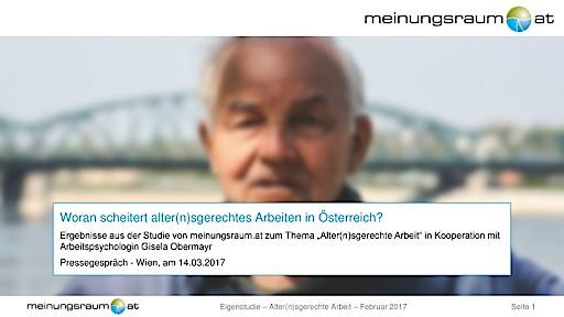 meinungsraum.at-Umfrage: 43 Prozent der Österreicher erachten ältere Arbeitnehmer als weniger belastbar