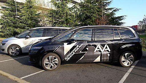 Autonome Fahrzeuge (Prototypen) der Groupe PSA
