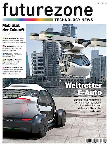 Cover der ersten Ausgabe des futurezone-Magazins