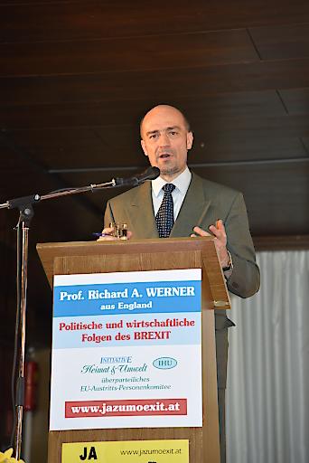 """Zitat Prof. Werner: """"Der BREXIT wird ein politischer, wirtschaftlicher und finanzieller Erfolg für Großbritannien!"""""""