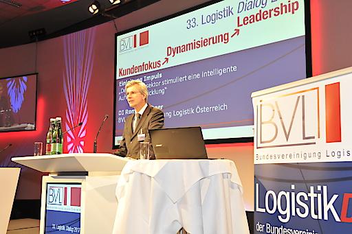 Roman Stiftner, Präsident der BVL Österreich, eröffnet den 33. Logistik Dialog:
