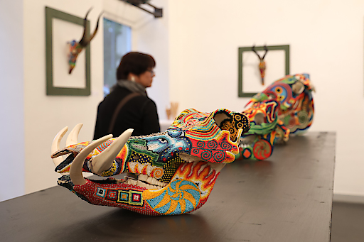Francisco Claure.METAMORPHOSIS.A LIFE AFTER DEATH SKULLS – inspired by the sacred Huichol art.AUSSTELLUNGSERÖFFNUNG