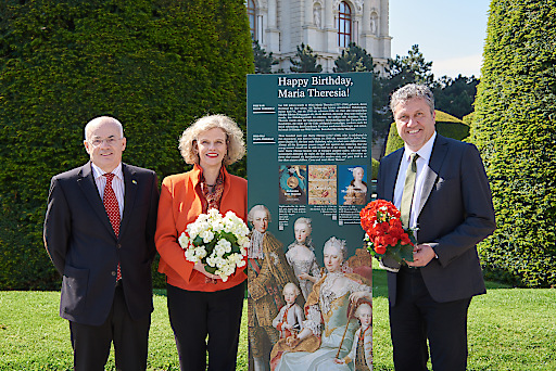 Bundesgartendirektor Gottfried Kellner, Generaldirektorin Sabine Haag und Burghauptmann Reinhold Sahl Copyright KHM-Museumsverband