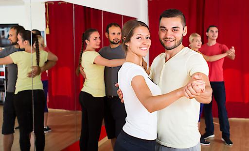 Standard Tanz, tanzendes Pärchen