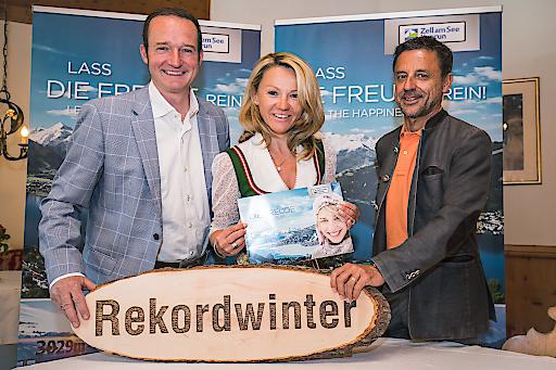 v.l.n.r.: Mag. Georg Segl (Obmann des Tourismusverbands Zell am See), Mag. Renate Ecker (Tourismusdirektorin von Zell am See-Kaprun) und Christoph Bründl (Obmann des Tourismusverbands Kaprun)