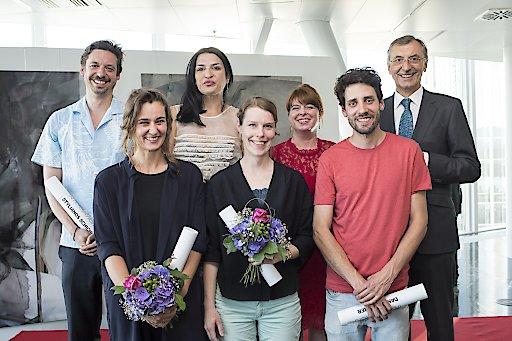 v.l.n.r.: Stylianos Schicho, Natascha Schmitten, Denitsa Todorova, Julia Steiner, Tanja Skorepa, Daniel Karrer, Thomas Birtel