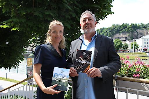 Kultursommer in Bad Gastein Doris Höhenwarter (GF TVB Bad Gastein) und Shane Woodborne (GF Camerata Salzburg) präsentieren das diesjährige Programm
