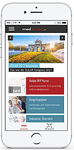 medONLINE App der Medizin Medien Austria