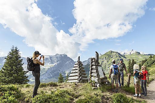 Berge als Bühne, Themenwanderweg Gauertaler AlpkulTour,