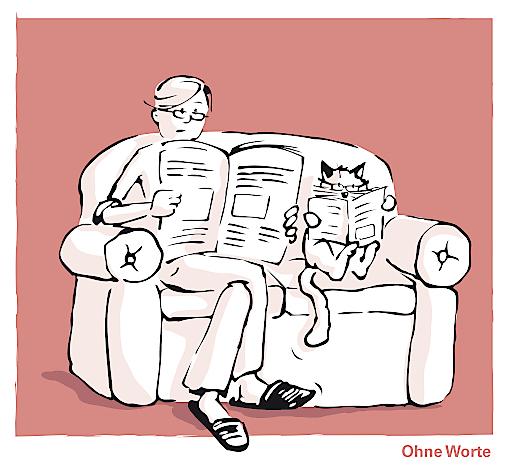 """Cartoon aus der Broschüre """"Leitfaden zum Katzenglück"""" vom Verein """"Tierschutz macht Schule Mehr Katzen-Cartoons unter www.tierschutzmachtschule.at Cartoon: Konzept: Daniela Lipka Illustration: Inga Seidl"""