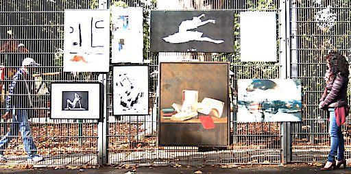 """Das Projekt """"Börseviertel StreetArt -Kunst am Zaun im Börsepark""""ist als Open Air Plattform und Kulturtreffen im Börsepark konzipiert. Der Park wird für KünstlerInnen und ihre Kunstwerke zu einer Open Space Gallery, zur Begegnungszone, zum Kunstmarktplatz und zur Schaffenszone."""