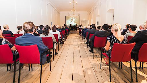 Präsentation im Moreausaal des Schlosses Esterházy