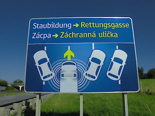 ASFINAG Plakat Rettungsgasse