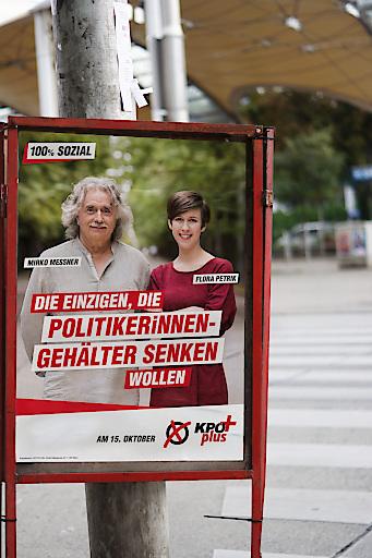 KPÖ PLUS möchte PolitikerInnengehälter senken.