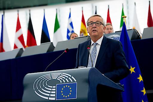 Kommissionspräsident Jean-Claude Juncker im Europäischen Parlament in Straßburg: Rede zur Lage der Union 2017