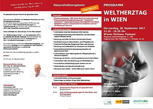 """Einladung zum Pressegespräch am 22.09.2017: """"Weltherztag in Wien"""""""