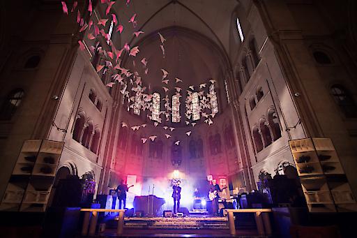 Black Palms Orchestra, einer von über 100 Live-Acts, am Samstag in der Canisius Kirche.