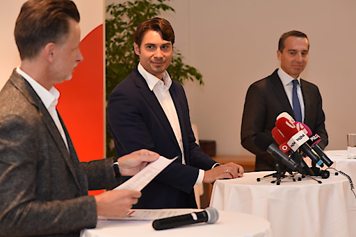 """Foto von der heutigen Pressekonferenz im """"Impact Hub Vienna"""""""