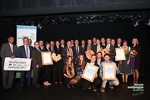 Alle Gewinner und Sponsoren der Wellpappe Austria Awards 2017.