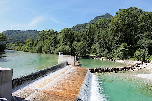 Wehranlage an der Alm in Oberösterreich