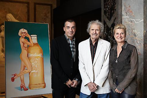 Almdudler Pop Art zum 60. Geburtstag: Mel Ramos Gemälde im Kunsthistorischen Museum