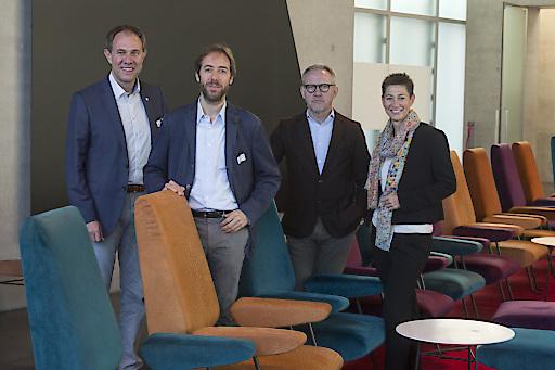 Im Bild: v.l: Dir. Christian Schützinger, Dietmar Nußbaumer, Bertram Rhomberg und Jutta Frick