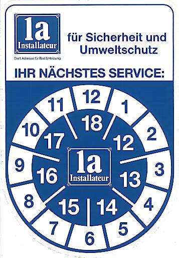 Thermen-Pickerl: Die 1a-Installateure bieten österreichweit ein jährliches Thermenwartungsservice.