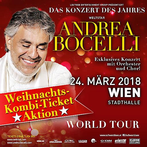 Andrea Bocelli am 24. März 2018 in Wien – Weihnachtsaktion | Leutgeb ...