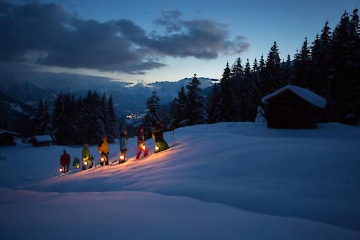 Mondschein-Sagenwanderung am Kristberg (Montafon, Silbertal) mit Hertha Glück