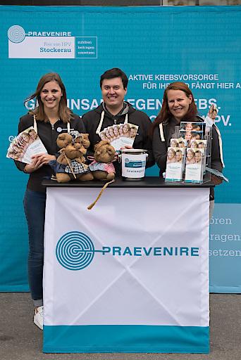 Informationsstand des PRAEVENIRE-Gemeindeprojekts beim Erdäpfel(Stadt)fest in Stockerau