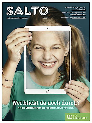 Cover der neuen Ausgabe von SALTO, dem Magazin von SOS-Kinderdorf